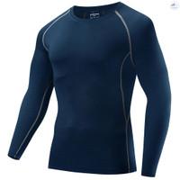 Kaos T-Shirt Lengan Panjang Pria Untuk Olahraga / Atletik / Sepeda /