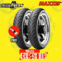 Paket Ban Motor XMAX FORZA MAXXIS M6135 120/70 R15 150/70 R14 Tubeles