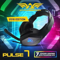 HEADSET GAMING ARMAGEDDON PULSE 7 WITH 7 LED COLOUR