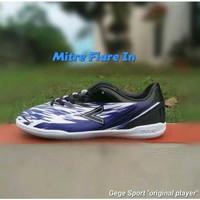 Jual Mitre Flare IN Sepatu Futsal - Black Blue White Limited