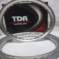 Velg TDR U shape 185 dan 215 silver ring 17