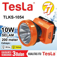 NEW!!! Senter Kepala Super Led 10w 10 Watt Nyelam Tesla TLKS 1054 Cas