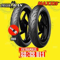 Paket Ban Motor MAXXIS EXTRAMAXX M6233W-M6234W 80/90-90/90 R14