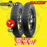 Paket Ban Motor IMPOR VESPA LIBERTY MAXXIS 6127 80/90 R15 100/80 R14