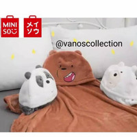 Promo Miniso We Bare Bears Air Conditioner Blanket Selimut Hodie Balmu
