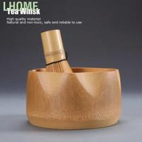 Lhome Matcha Making Tool Set Bamboo Tea Whisk Scoop Bowl Ceramic