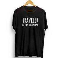 Kaos Distro Outdoor Traveler Kelas Ekonomi - OU110TRKE T shirt keren
