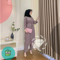 baju setelan wanita muslimah jumbo XL fashion hijab muslimah kekinian