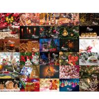 Christmas 3D Stereo Greeting Card AR Virtual Imaging Technology