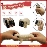 On Hand Mainan Squishy Dekompresi Bentuk Anjing Pug Bahan Elastis