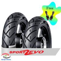 Paket Ban FDR Sport Zevo Tubeless Free Pentil 120/70-12 & 130/70-12