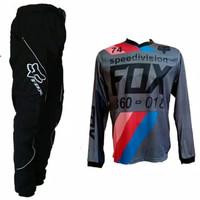 jersey setelan baju celana motocross fox trail olahraga pria Discount