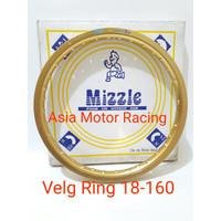 O00 Velg Rossi Mizzle Ring 18 Gold Bukan Rossi 18 Comet Hitam Biru Tdr