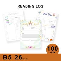 Loose Leaf Planner B5/READING LOG/Isi Kertas File/Refill/Binder