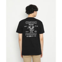 Kaos Pria Erigo T-Shirt Fukuokai Custom Cotton Combed Black