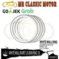 White Wall-Karet Lis Ban Motor Ring 18 Warna Hitam