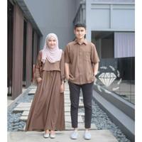 Baju Couple Nopo Jumbo Couple Gamis Muslimah Big Size Model Terkini