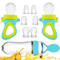 Baby Food Feeder, Fresh Food - 2 Pack Fruit Feeder Pacifier, 6 Differe