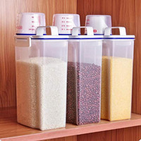 AOLVO Rice Bin 2kg Rice Container, 3 Pcs Airtight Cereal Container Ric