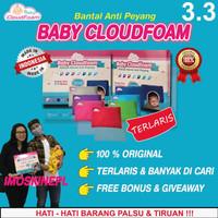 BANTAL ANTI PEYANG BABY CLOUDFOAM - BANTAL KULIT KACANG IJO S2023