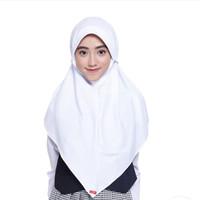 Zoya Ceria-Bergo Kerudung Sekolah Original/Hijab Instan - Putih Maxi