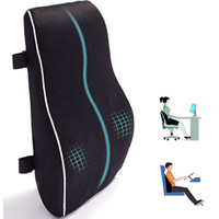 Lumbar Support Pillow for Office Chair Car Memory Foam Back Cushion fo