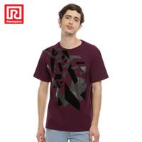Ramayana - Polo Ralph House - Tshirt S/S Sablon Bludru 75.254 - Maroon, XL
