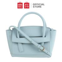 MINISO Tas Jinjing Handbag Bahu Wanita Polos Selempang Medium Kulit - Blue
