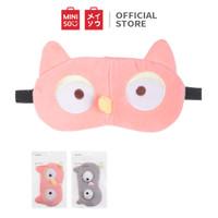 MINISO Penutup Mata Eye Cover Eye Mask Tidur Masker Owl Burung Hantu