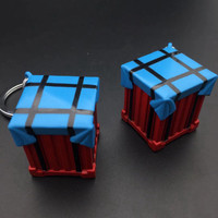 New 2019 Game PUBG Cosplay Accessories Airdrop Box Keychain Metal