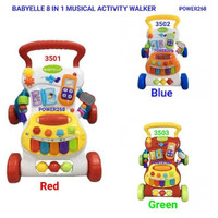BabyElle 8 in 1 Musical Activity Walker 3501 Red Mainan