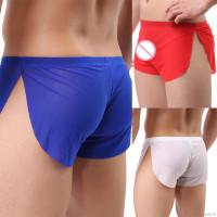 Celana Pendek Sexy Low Ultra Tipis Untuk Baju Tidur Pria