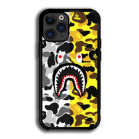 Case Casing iPhone 12 Pro Max Bape Yellow And Grey Camo P2129