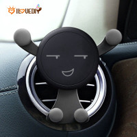 Phone Holder Magnetik Universal Desain Smile Face Dengan Klip Ac