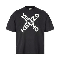 Kenzo T-Shirt Cross Logo Black Man