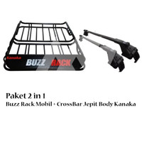 PAKET BUZZ RACK Mobil Include Jepit roof Rill Crossbar - Universal -