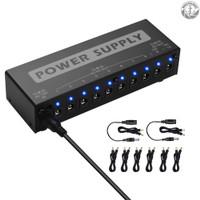 Stasiun Power Supply Efek Gitar Portabel 10 Isolated Dc Outputs