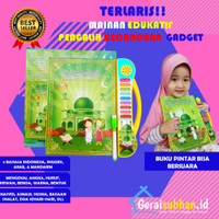 NEW Mainan Edukasi Anak 1 2 3 4 5 tahun Ebook Muslim 4 bahasa Buku Pin