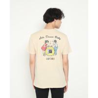 Kaos Pria Erigo T-Shirt Dance Baby Cotton Combed Cream