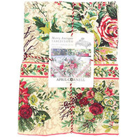 April Cornell Floral Holdiay Tablecloth Merry Multi Color 00% Cotton 6