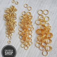 Ring gold jump ring bahan bros craft anting juntai bahan gelang keraji