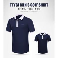 Tempat Musim Panas Golf Polo Shirt Olahraga Pria T-shirt Lengan