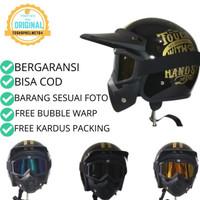 Helm Klx Crf Motocross Trail Retro Bogo + Kacamata Goggle Mask Jadul