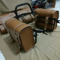 Side bag/tas motor kawasaki w175 tas pinggir Back Rack kawasaki