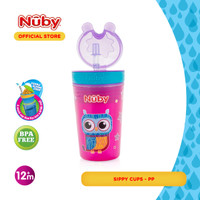 Nuby Snack N Sip Cup with Straw Cover (Assorted Colour)