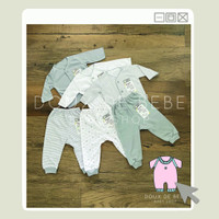 NaT Fluffy Baju Bayi Lengan Panjang Murah 1 Set Newborn 0 - 3 bulan Wa