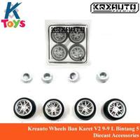 Kreauto Wheels Ban Karet V2 9-9 L Bintang 5 Diecast Accessories
