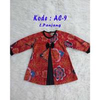 NaT Atasan Batik Anak Perempuan Blouse Anak Cewek Blus Merah Baju Leng