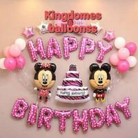 Paket Dekorasi Ulang Tahun Balon Foil Minnie Dan Mickey Mouse PES4469