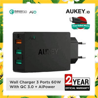 Aukey PA-T14 Charger 3 output QC 3.0 Garansi Resmi Aukey Indonesia 24